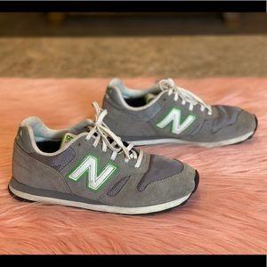 New Balance 373 Retro Gray & Green Trainers Sz 7